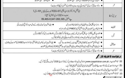 Govt Jobs in Pakistan Civil Aviation Authority (PCCA) Jobs || Govt Jobs 2020