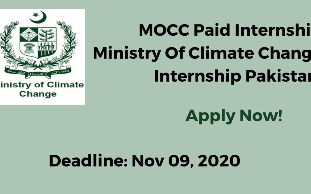 MOCC Paid Internship | Ministry Of Climate Change Internship Pakistan | Apply Now