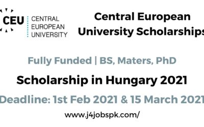 CEU Scholarship 2021 | Central European University Hungary | Fully Funded