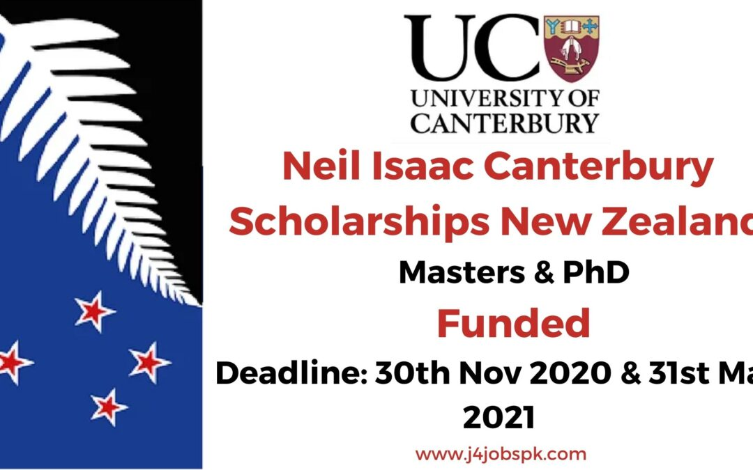 Neil Isaac Canterbury Scholarships New Zealand | Apply Now
