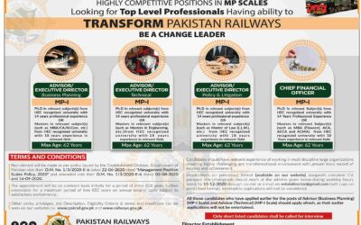 Pakistan Railway Jobs Opportunity 2020 | Apply Now