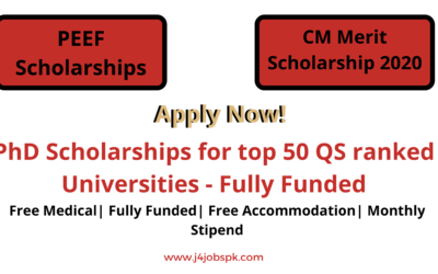 PEEF CMMS Scholarships for Ph.D. in World Best Universities 2020 Fully Funded | Apply Now