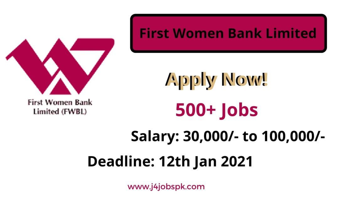 500+ Jobs –  First Women Bank Limited | Apply Now