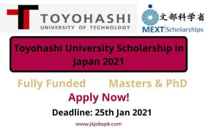 Toyohashi University Scholarship in Japan 2021 | Fully Funded