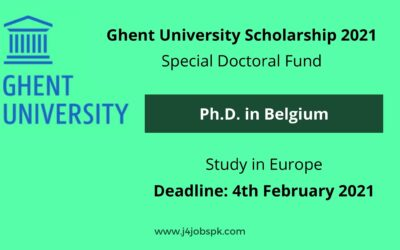 Ghent University Scholarship 2021 for Ph.D. in Belgium